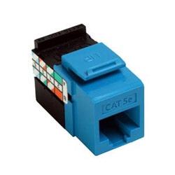 5G108-RL5 KEYSTONE JACK GIGAMAX Cat5e BLUE, LEVITON