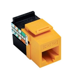 GigaMax 5e QuickPort Connector, UTP Category 5e, 110 Style Termination, Universal Wiring, Yellow