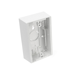 Surface Mount Backbox, Single Gang, White, 1.45 Depth in jamaica